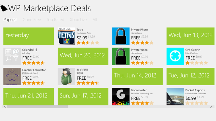 Get the most downloaded apps in the Marketplace at a discount price