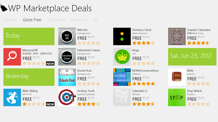Download apps FOR FREE while offers last
