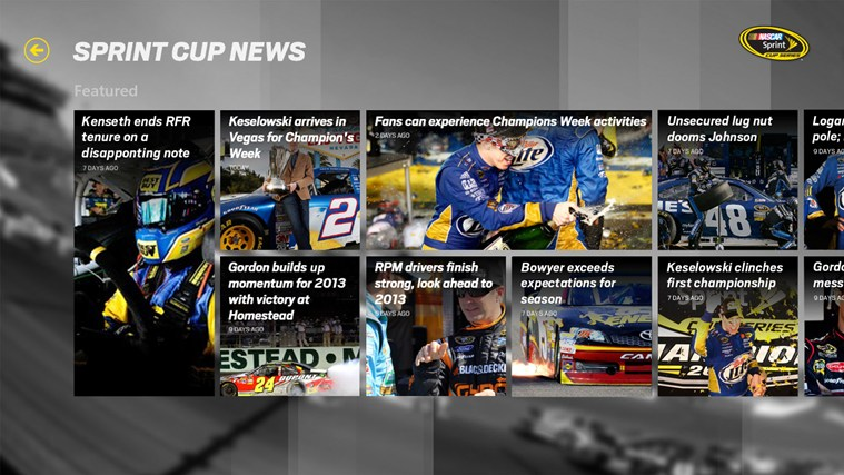 Sprint Cup News
