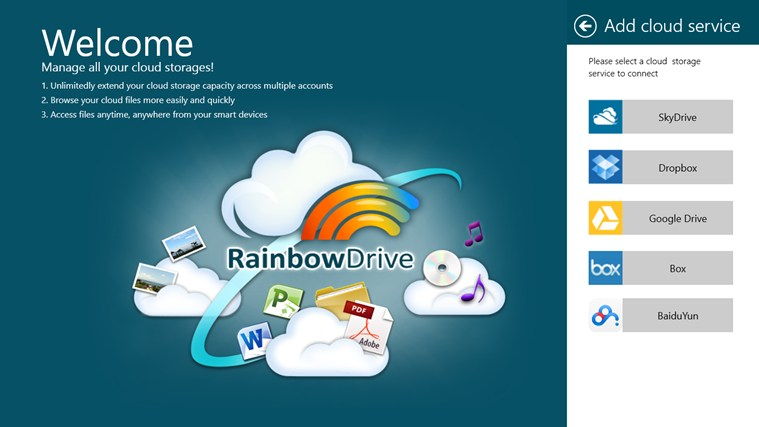 RainbowDrive screen shot 0