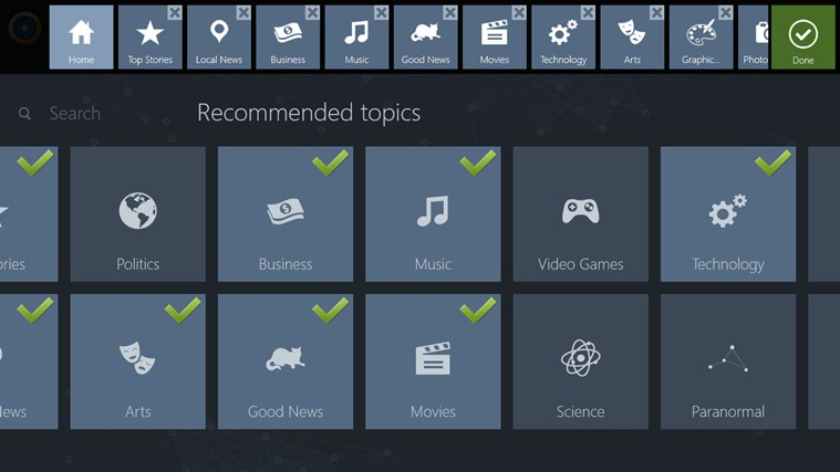 News360 screen shot 2