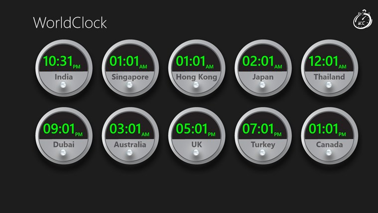 World Clock Wave screen shot 0