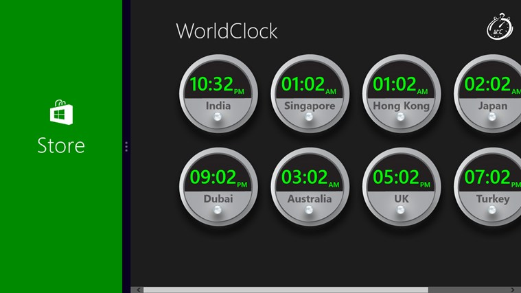 World Clock Wave screen shot 2