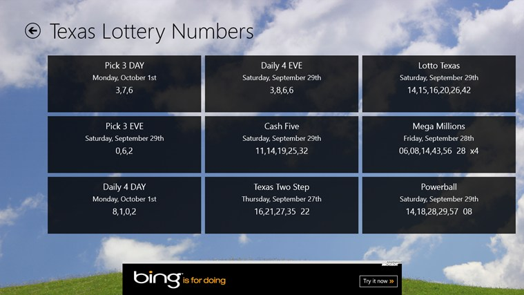 Lottery Numbers screen shot 2