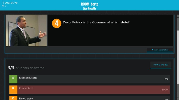 Socrative screen shot 2
