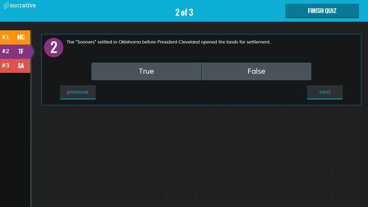 Socrative screen shot 8