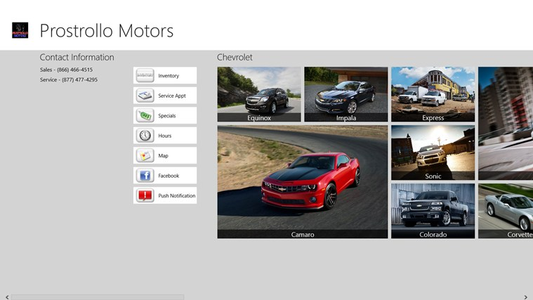 Prostrollo Motors App For Windows In The Windows Store