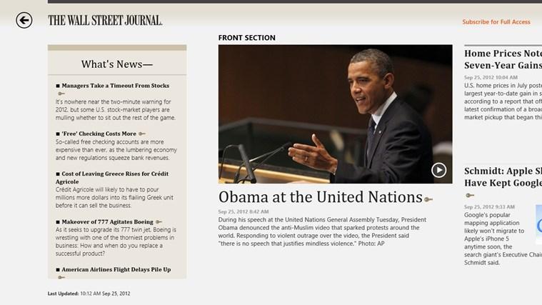 The Wall Street Journal. screen shot 0