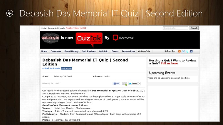 IT Quiz Hub screen shot 2