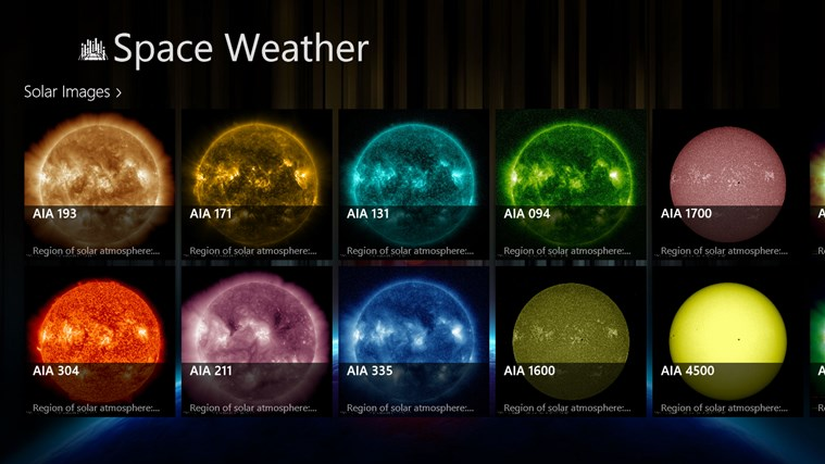 Space Weather screen shot 2