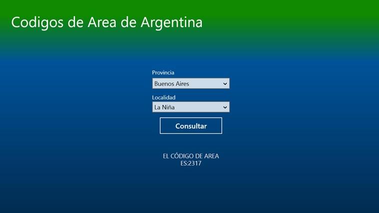 Aplicaci 243 N Codigo De Area Argentino Para Windows En La
