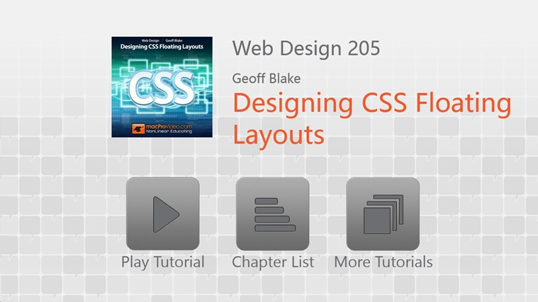 Web Design 205 - Designing CSS Floating Layouts captura de pantalla 0