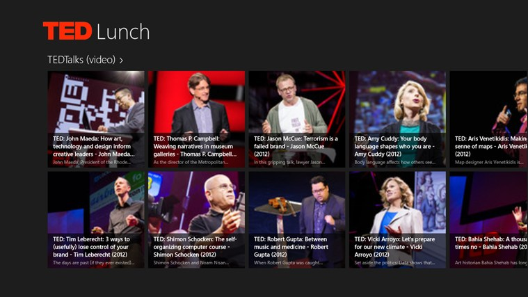 TED Lunch screen shot 0