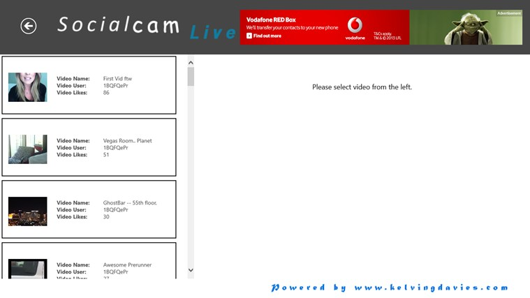 Socialcam Live screen shot 2