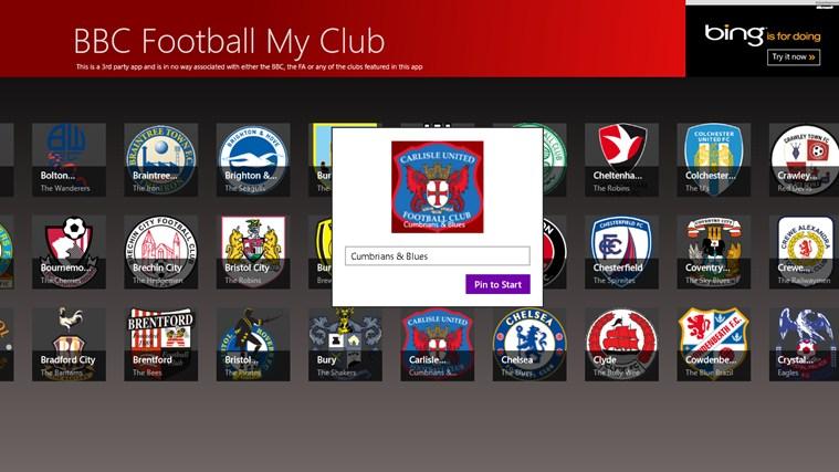 BBC Football My Club cattura di schermata 2