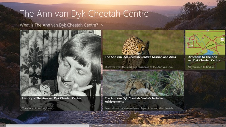 The Ann van Dyk Cheetah Centre skermskoot 0