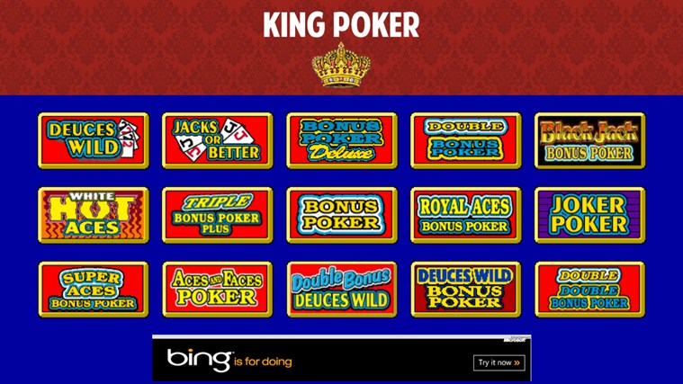 Video poker windows 10