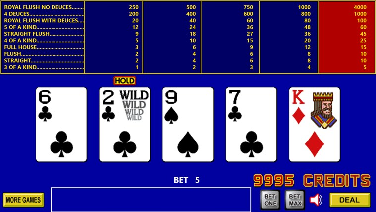 King Poker screen shot 2