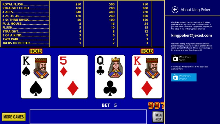 King Poker screen shot 6