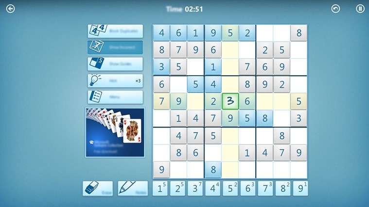 Microsoft Sudoku screen shot 4
