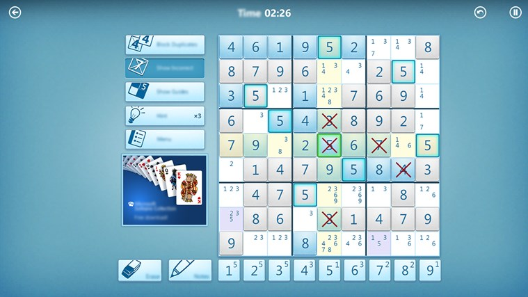 Microsoft Sudoku screen shot 6