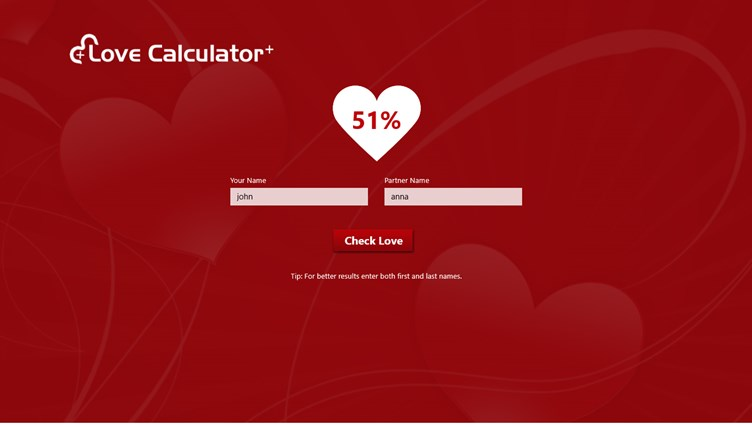 Love Calculator + screen shot 2