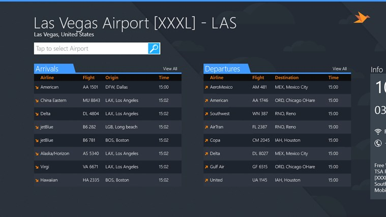 Las Vegas Airport + Flight Tracker screen shot 0