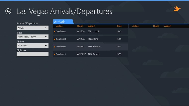 Las Vegas Airport + Flight Tracker screen shot 2