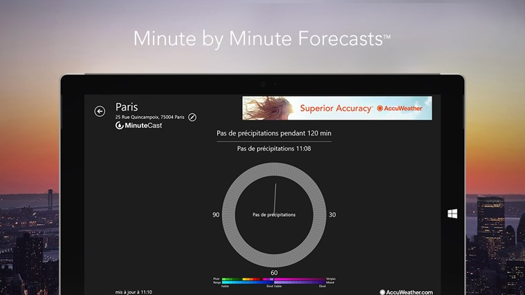 AccuWeather for Windows 8 capture d'écran 2