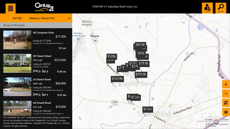 CENTURY 21 Suburban Real Estate, Inc. - Smithfield screen shot 0