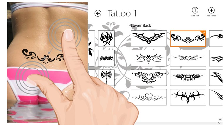 Tattoo Tester screen shot 2