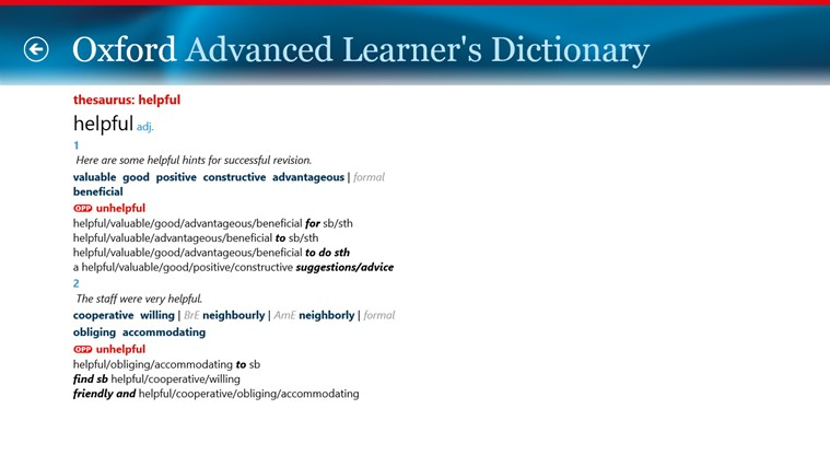 Oxford Advanced Learner's Dictionary, 8th edition screen shot 4