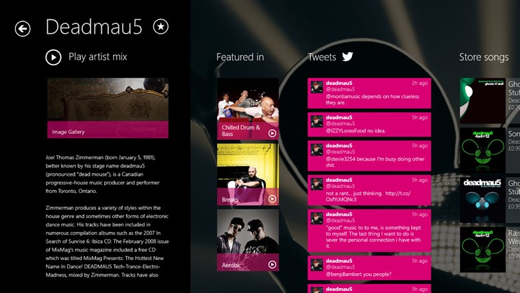 MixRadio screen shot 4