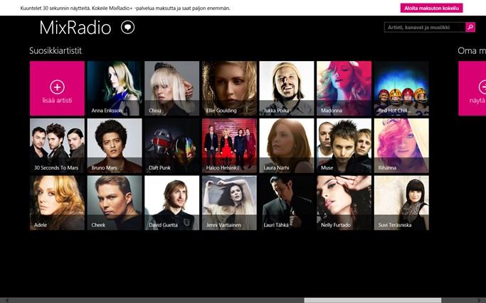 MixRadio näyttökuva 4