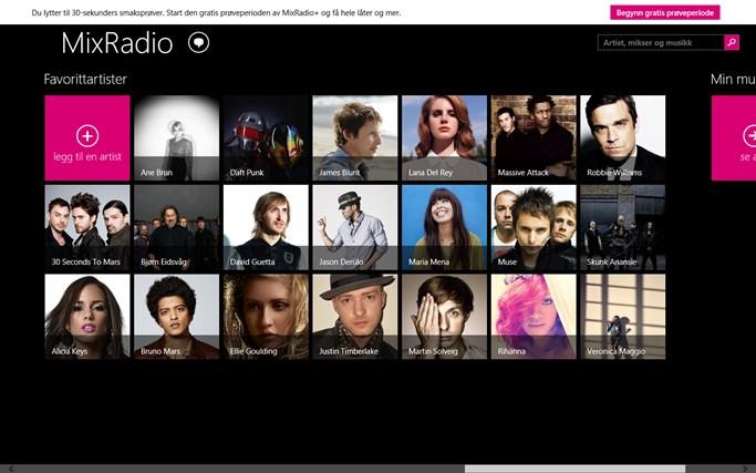 MixRadio skjermbilde 4