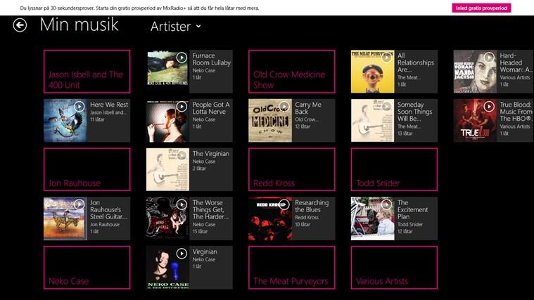 MixRadio-skärmbild 2