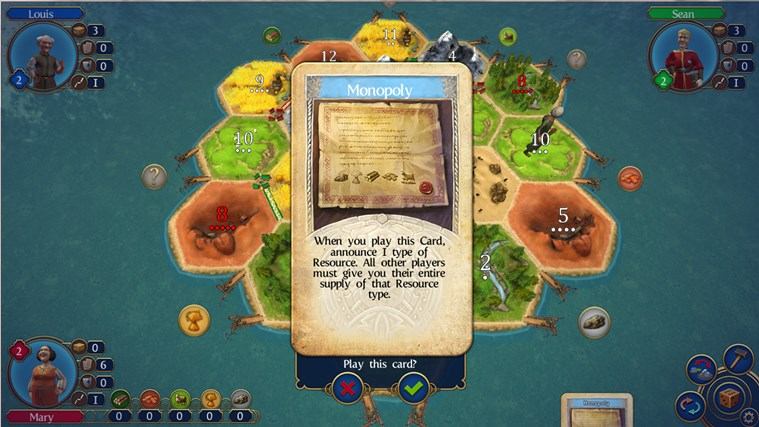 Catan screen shot 2