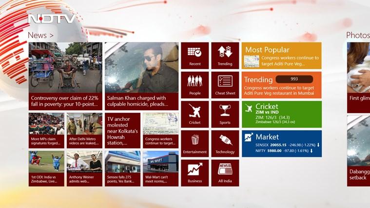 NDTV screen shot 0