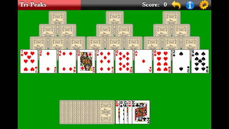 TriPeaks Solitaire (Free) screen shot 0