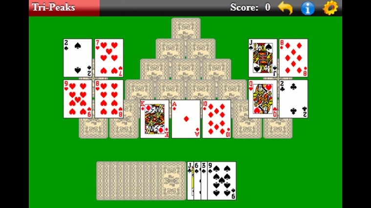 TriPeaks Solitaire (Free) screen shot 2