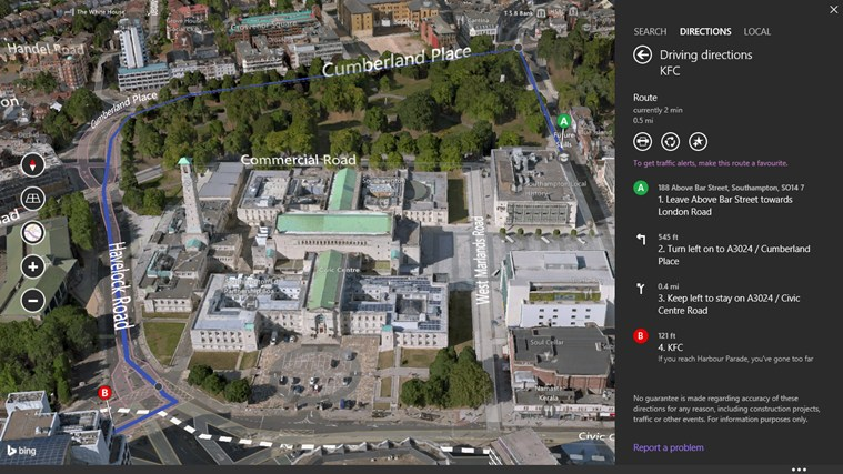 Bing Maps Preview screen shot 4