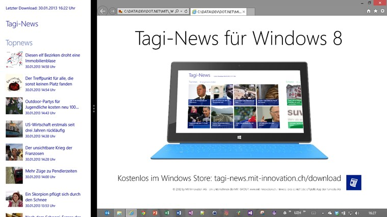 Tagi-News screen shot 6