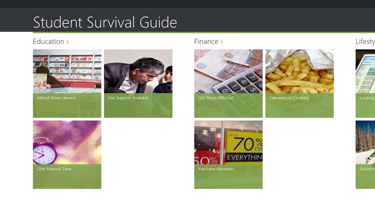 Student Survival Guide screen shot 0
