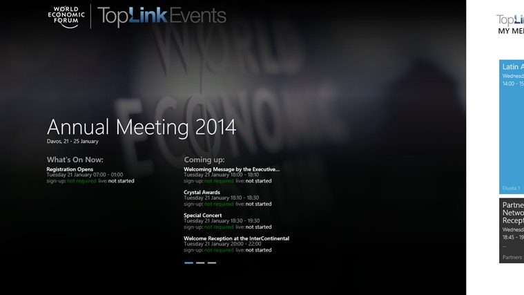 World Economic Forum Toplink Events screen shot 0