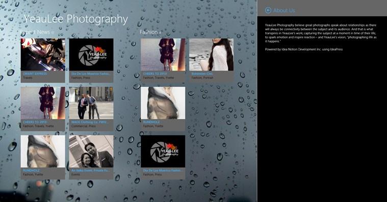 YeauLee Photography full screenshot