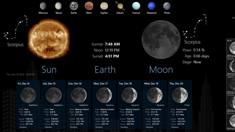 Lunar Phases screen shot 0