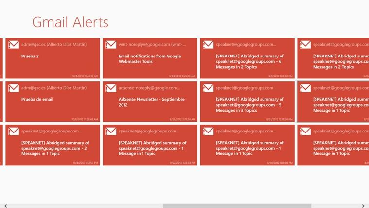 Gmail Alerts full screenshot