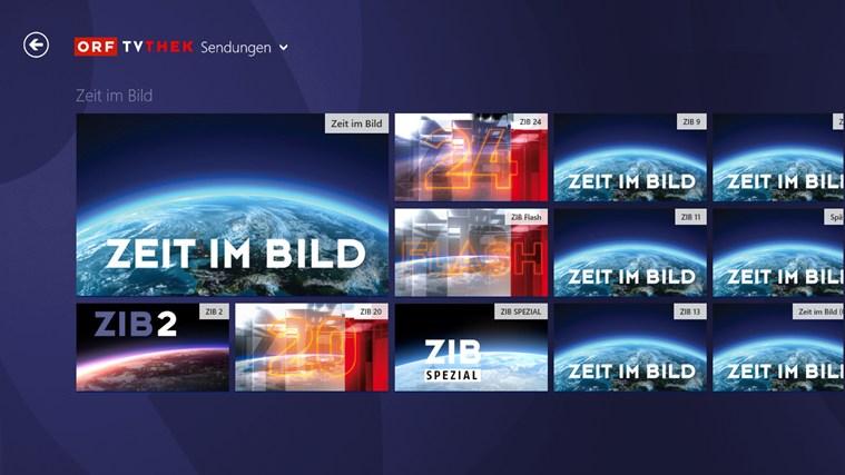 ORF-TVthek Screenshot 2