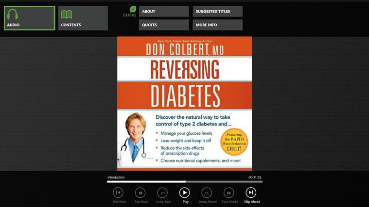 Reversing Diabetes (Dr. Don Colbert) petikan skrin 0