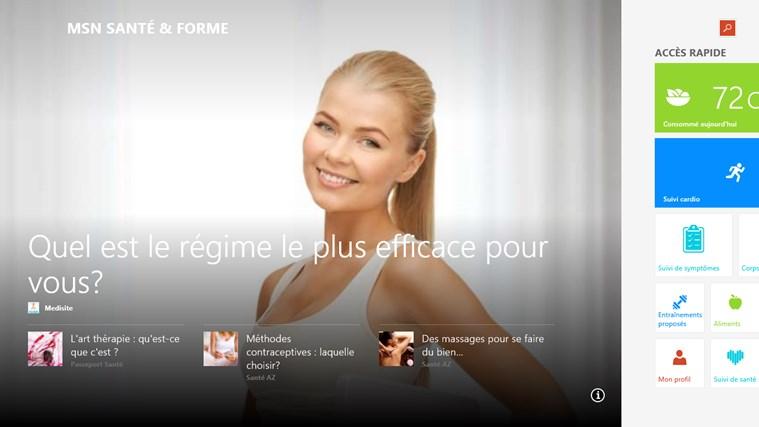 MSN Santé & Forme capture d'écran 0